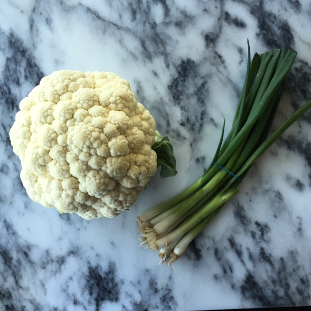 1 Head of Cauliflower and Scallions