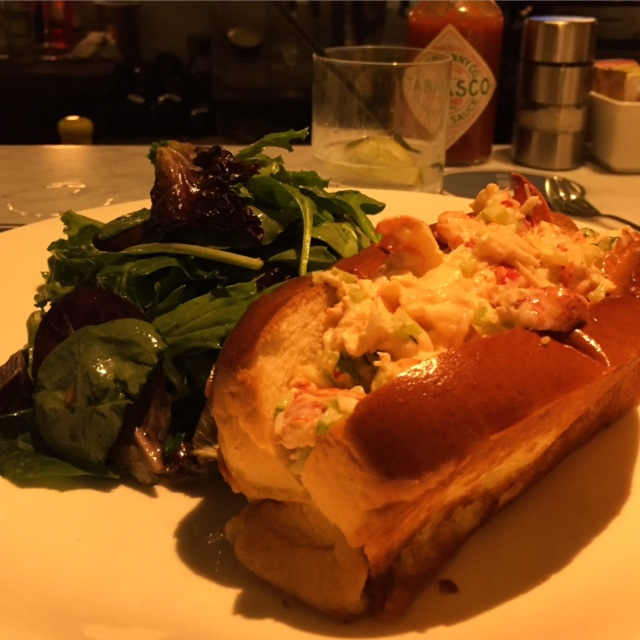 Indulging in West Coast take on my East Coast favorite: Lobster Roll