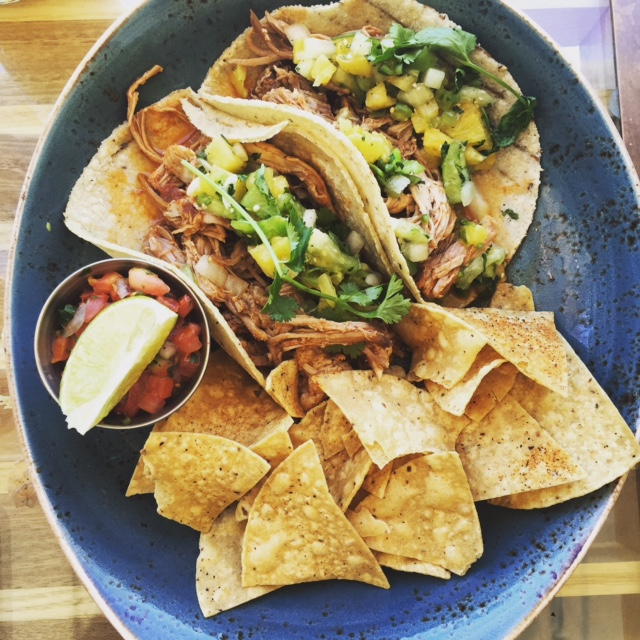 Pork Tacos at George's at the Cove